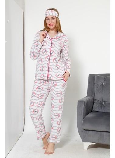 Akbeniz Welsoft Kadın Pijama Takım Ekru